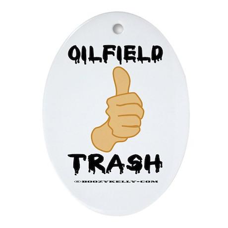 Thumbs Up, Oil Field Trash Oval Ornament