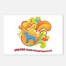 Groovy Greater Swiss Mountain Dog Postcards (Packa