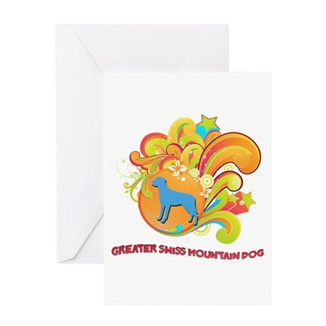 Groovy Greater Swiss Mountain Dog Greeting Card