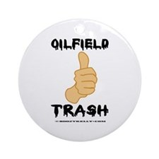 Thumbs Up, Oil Field Trash Ornament (Round)
