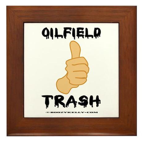 Thumbs Up, Oil Field Trash Framed Tile