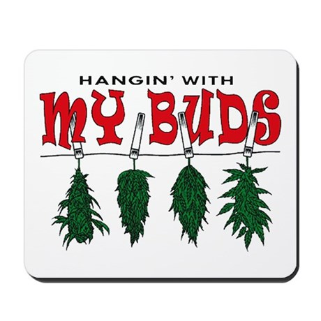 Weed Buds Hanging Mousepad