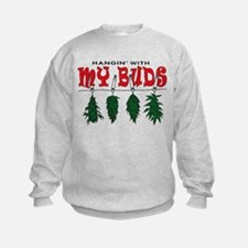 Weed Buds Hanging Sweatshirt
