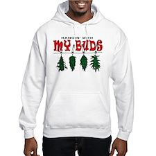 Weed Buds Hanging Hoodie Sweatshirt