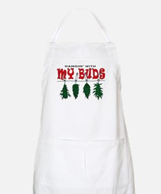 Weed Buds Hanging BBQ Apron