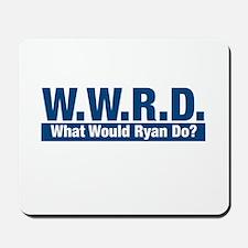 WWRD What Would Ryan Do? Mousepad