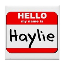 Hello my name is Haylie Tile Coaster