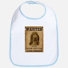 """""""Wanted"""" Irish Setter Bib"""
