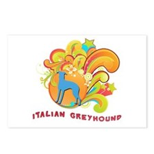 Groovy Italian Greyhound Postcards (Package of 8)