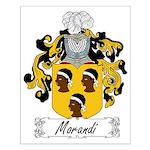 Morandi Family Crest Small Poster