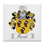 Morandi Family Crest Tile Coaster