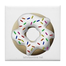 White Donuts Tile Coaster