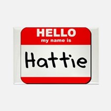 Hello my name is Hattie Rectangle Magnet