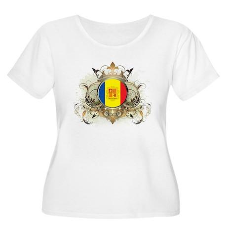 Stylish Andorra Women's Plus Size Scoop Neck T-Shi
