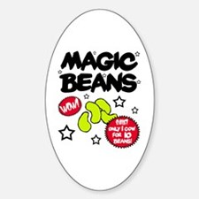 'Magic Beans' Oval Decal