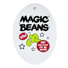 'Magic Beans' Oval Ornament