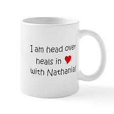 Funny Heart nathanial Mug