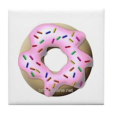 Pink Donuts Tile Coaster