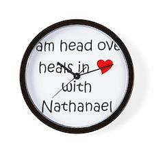 Funny I love nathanael Wall Clock