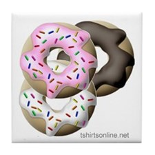Multi-Colored Donuts Tile Coaster
