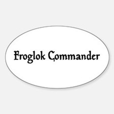 Froglok Commander Oval Decal
