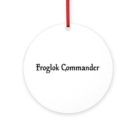 Froglok Commander Ornament (Round)