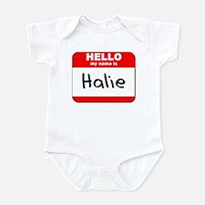 Hello my name is Halie Infant Bodysuit