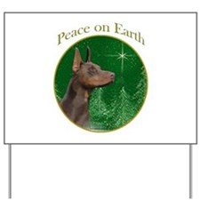 Dobie Peace Yard Sign