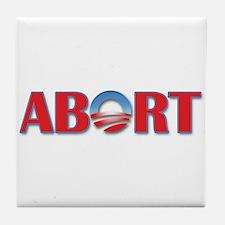 Abort Obama Tile Coaster