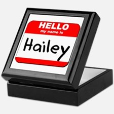 Hello my name is Hailey Keepsake Box