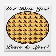 God Bless You! Tile Coaster