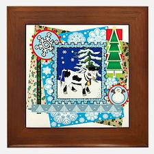 Scrapbook Holstein Christmas Framed Tile