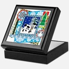 Scrapbook Holstein Christmas Keepsake Box