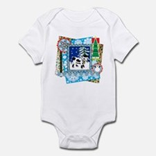 Scrapbook Holstein Christmas Infant Bodysuit