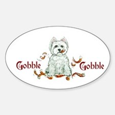 Westhighland Turkey Terrier Oval Decal