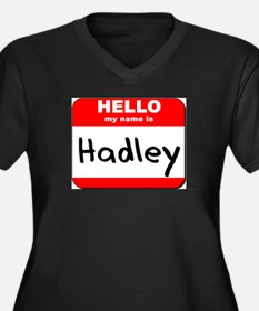 Hello my name is Hadley Women's Plus Size V-Neck D