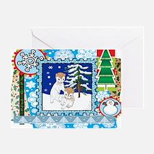 Scrapbook Ferret Christmas Greeting Card