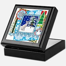Scrapbook Sphynx Christmas Keepsake Box
