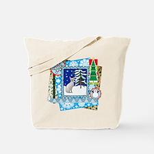Scrapbook Sphynx Christmas Tote Bag