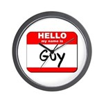 Hello my name is Guy Wall Clock