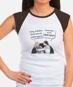Big two scary, vote libertarian Women's Cap Sleeve