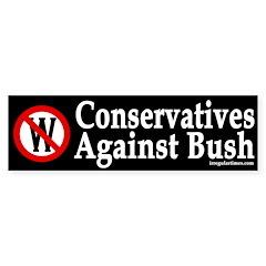 Conservatives Against Bush (Sticker)
