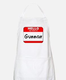 Hello my name is Gunnar BBQ Apron