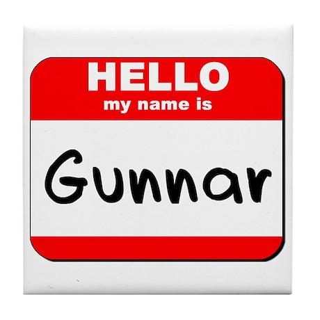 Hello my name is Gunnar Tile Coaster