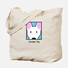 Anime White Canaan Dog Tote Bag