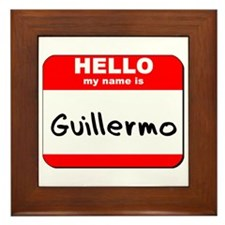 Hello my name is Guillermo Framed Tile