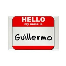 Hello my name is Guillermo Rectangle Magnet