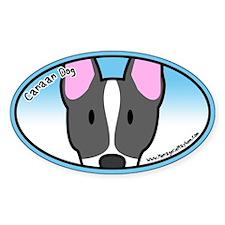 Anime Canaan Dog Oval Decal