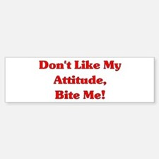 Bite Me Bumper Car Car Sticker