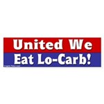 United We Eat Low-Carb bumper sticker
